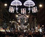 A corda da decoração do feriado do Natal do diodo emissor de luz ilumina ao ar livre Waterproof