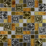 Telha misturada do mosaico do cristal do metal misturado do aço inoxidável da cor (FYMG027)