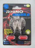 Ampliación sexual del pene de la libido del vigor del cuerno 3000 del rinoceronte del reforzador masculino grande del funcionamiento, píldoras herbarias del sexo