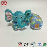 Almohadilla suave de la felpa del juguete de la ayuda del cuello del bebé del elefante del gato