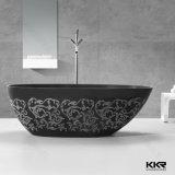 Tina de baño libre de la resina de la bañera de piedra artificial del cuarto de baño