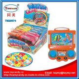 Brinquedo do jogo da água da mostra da tevê do plástico com doces