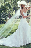 Втулки крышки платья венчания шнурка отбортовывая Bridal мантию 2017 H5209 венчания