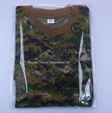 T-shirt tactique tactile tactile de haute qualité avec col rond