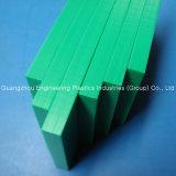 Placa verde feita sob encomenda do plástico UHMWPE
