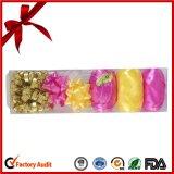 Poli nastro riccio unito colore giallo di spostamento di regalo