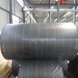Estera tejida PP negra de Weed del geotextil