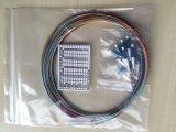 Livello 0.9mm di telecomunicazione 2.0mm 3.0mm treccia ottica della fibra di LC Upc di 12 standard