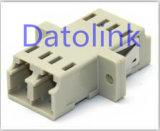 Adaptador ótico da fibra frente e verso bege do LC milímetro