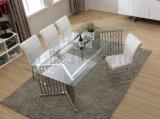Роскошный обеденный стол Tempered стекла обедая таблицы Seater мебели 8 установил (NK-DTB011)