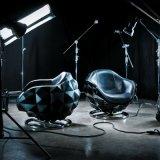 Diamant-Modell-Entwurfs-Fiberglas-Stühle Michael-Yeung