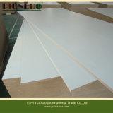 MDF laminado da cor de 1220X2440X18mm melamina branca para fazer a mobília