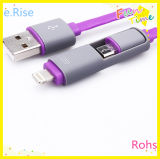 Android와 iPhone Cable (ERA-26)를 위한 1 USB에 대하여 실리콘 2