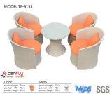 ベストセラーの庭アルミニウムフレームのPEの藤籐椅子および表