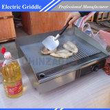 電気グリドルの大きい対のHotplateの商業ハンバーガーのグリルのベーコンの卵