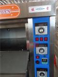 판매 (ZBA-306D)를 위한 전기 돌 굽기 3 갑판 피자 컨베이어 오븐