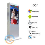 55 pollici Floor Standing Outdoor Touch Screen Kiosk per l'affissione a cristalli liquidi Advertizing (MW-551ODFSP) di Outdoor