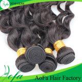 естественное выдвижение человеческих волос девственницы Remy волос объемной волны 100%Unprocessed