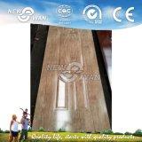 Pele de madeira de madeira folheada, pele de porta de carvalho / cinza / noz, pele de porta moldada