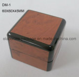 Caisse d'emballage élégante solide de bijou de cadre en bois de laque lustrée