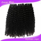 ねじれたカール100%の人間のブラジルのバージンのRemyの毛の拡張