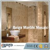 Бежевые Polished естественные мраморный мозаика/плитки для нутряной конструкции настила