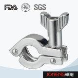 Type lourd bride (JN-CL2001) de Pin de double hygiénique d'acier inoxydable