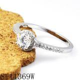 Argento 925 dell'anello di diamante dei monili di modo