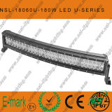 180W DEL Curved CREE-U Series Light Bar, 60PCS*3W DEL Waterproof Light Bar hors de Road Driving