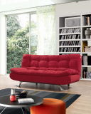 Fabric classico Folded Sofa Bed con Soft Cushion