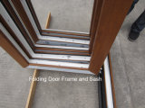 Le bois aiment le profil de PVC de Rehau/Veka guichet de glissement Bifold/se pliant