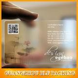 визитная карточка бумаги искусствоа 9X5.4cm напечатанная Cmyk