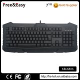 Letras retroiluminadas Wired USB Desktop PC Gaming Keyboard