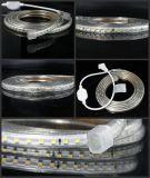 Luz de tira 60LEDs/M do diodo emissor de luz de 3528 SMD 110V/220V com luz uniforme