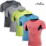 Maglietta Dt0853 dei vestiti di ginnastica di usura di forma fisica di compressione degli uomini di Neleus