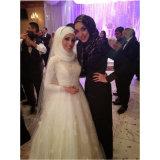Платье венчания мусульманского шнурка Tulle сатинировки пристойное (Dream-100059)