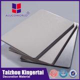 Panneau solide en aluminium matériel du revêtement le meilleur marché de mur extérieur d'Alucoworld