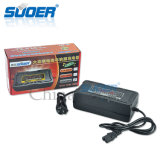 Cargador de batería elegante de la bici eléctrica de Suoer 72V 80A para el coche (SON-7280D)