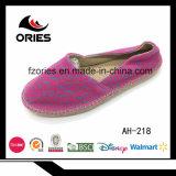 Закрытое выскальзование пальца ноги на оптовых ботинках холстины женщины