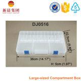 Caja de almacenamiento de plástico transparente de gran tamaño