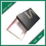 Boîte-cadeau estampée par logo noir de clinquant argenté de Matt (FP8039117)