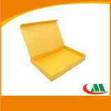 Подгонянная желтая бумажная картонная коробка для подарка