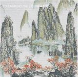 Het Schilderen van Landcsape ---Het Mozaïek van het Glas van het kristal voor de Tegel van de Muur (PT028)