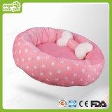 Base confortável do animal de estimação da pegada do algodão com descanso de Samll, coxim do cão