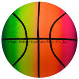 Bola de brinquedo de infiltração de PVC de basquete de arco-íris de alta qualidade