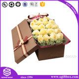 Коробка цветка оптового роскошного изготовленный на заказ картона подарка упаковывая