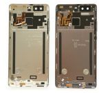 指紋の屈曲ケーブルおよび力ボリュームボタンとのHuawei P9のための携帯電話の部品の裏表紙電池のドアハウジングの箱