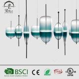 Luz creativa do projeto da forma - lâmpada de vidro do pendente do inclinação verde para a iluminação de suspensão decorativa do quarto