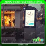 Im Freien Bildschirm-Kiosk Digital-LCD angepasst, Totem bekanntmachend
