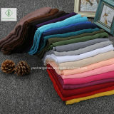 Hot Sell Tr Cotton Plain Muslim Hijab Écharpe grande taille Lady Fashion